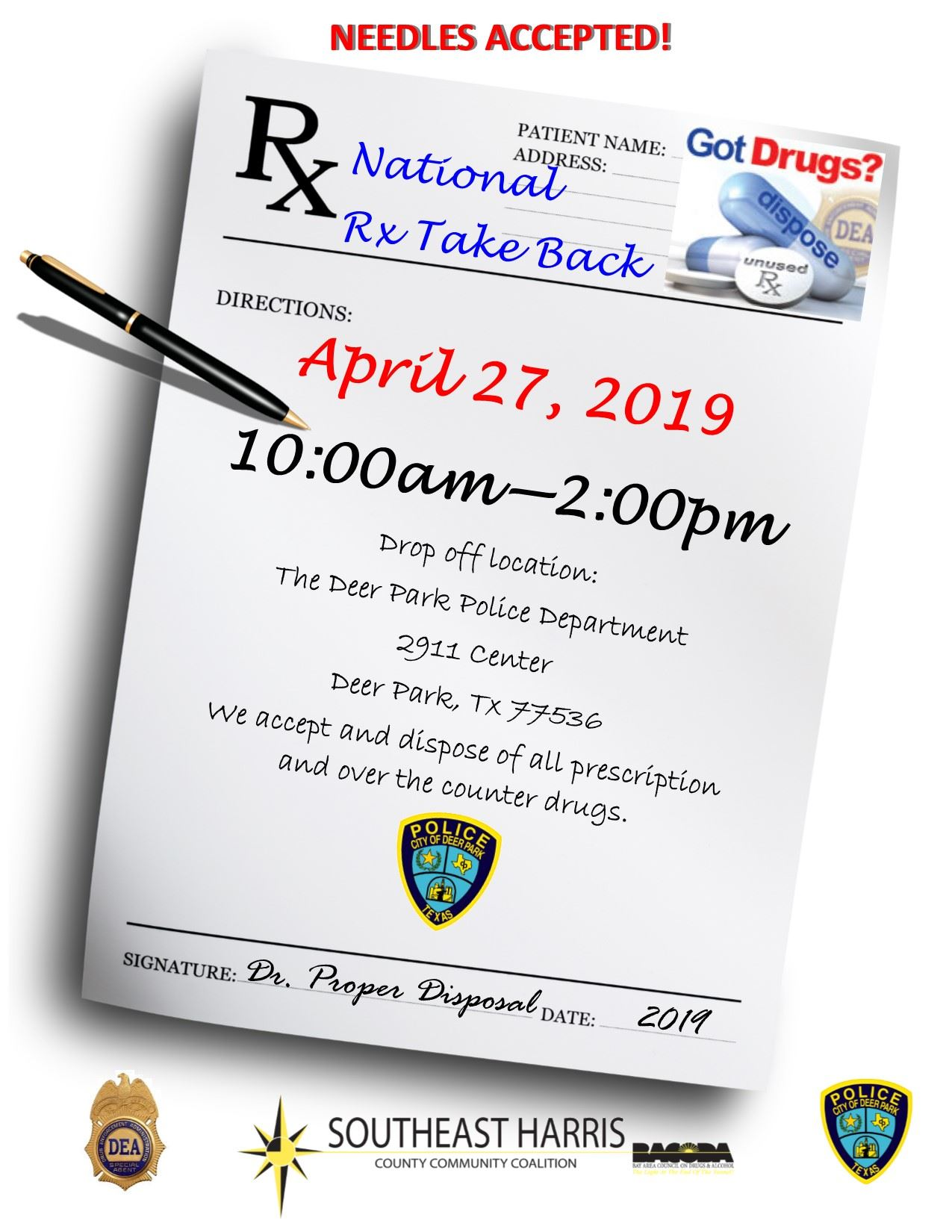19  2019 DRUG TAKE BACK APRIL 27