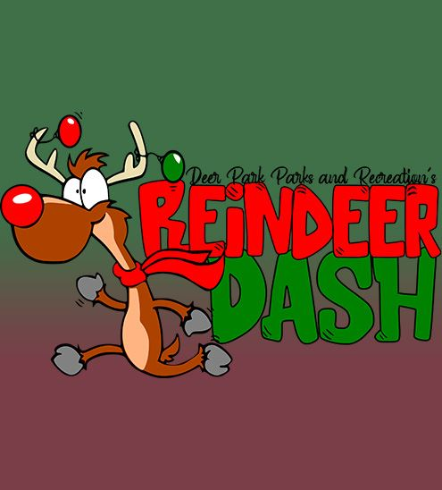 "Decorative - text reads ""reindeer dash"""